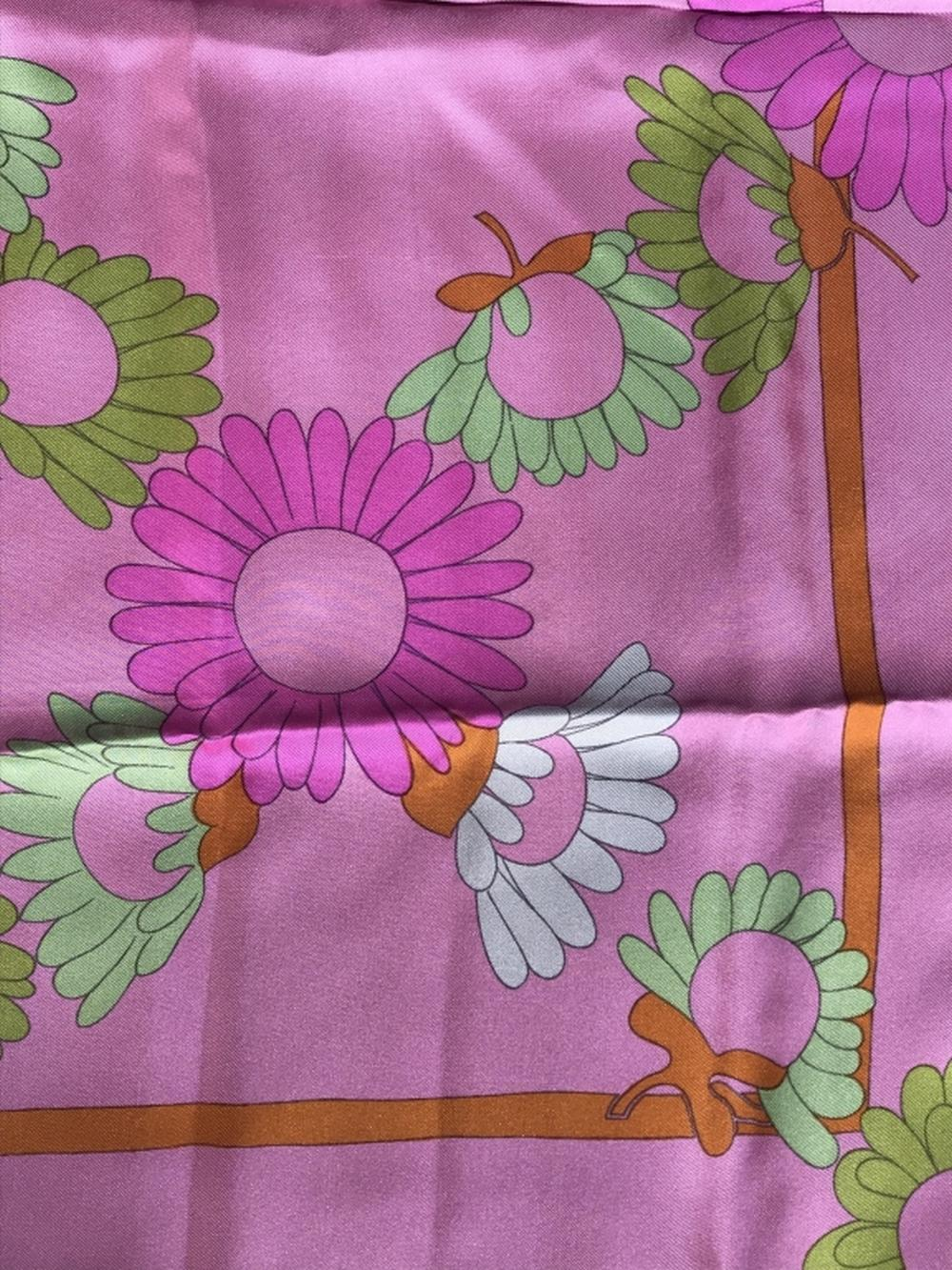 Christian DIOR Designer Silk Flower Power Scarf
