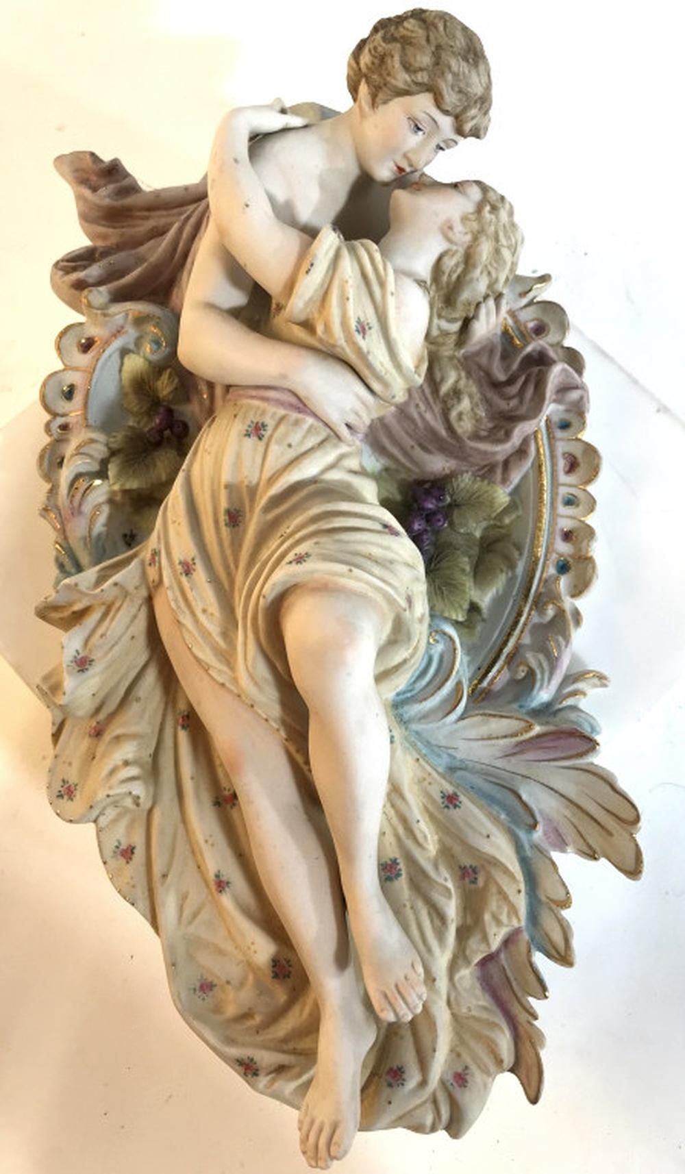 Meissen porcelain collectible Figural wall hanging