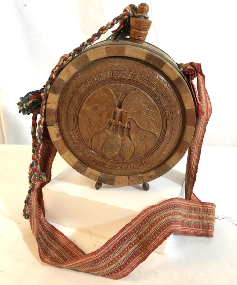Wooden carved and crafted canteen