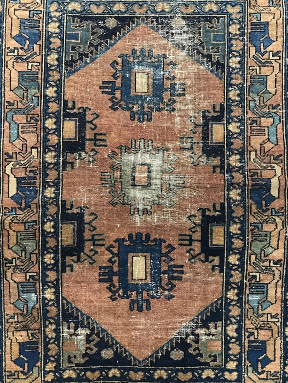 Antique HAMADAN Handmade  Wool Rug