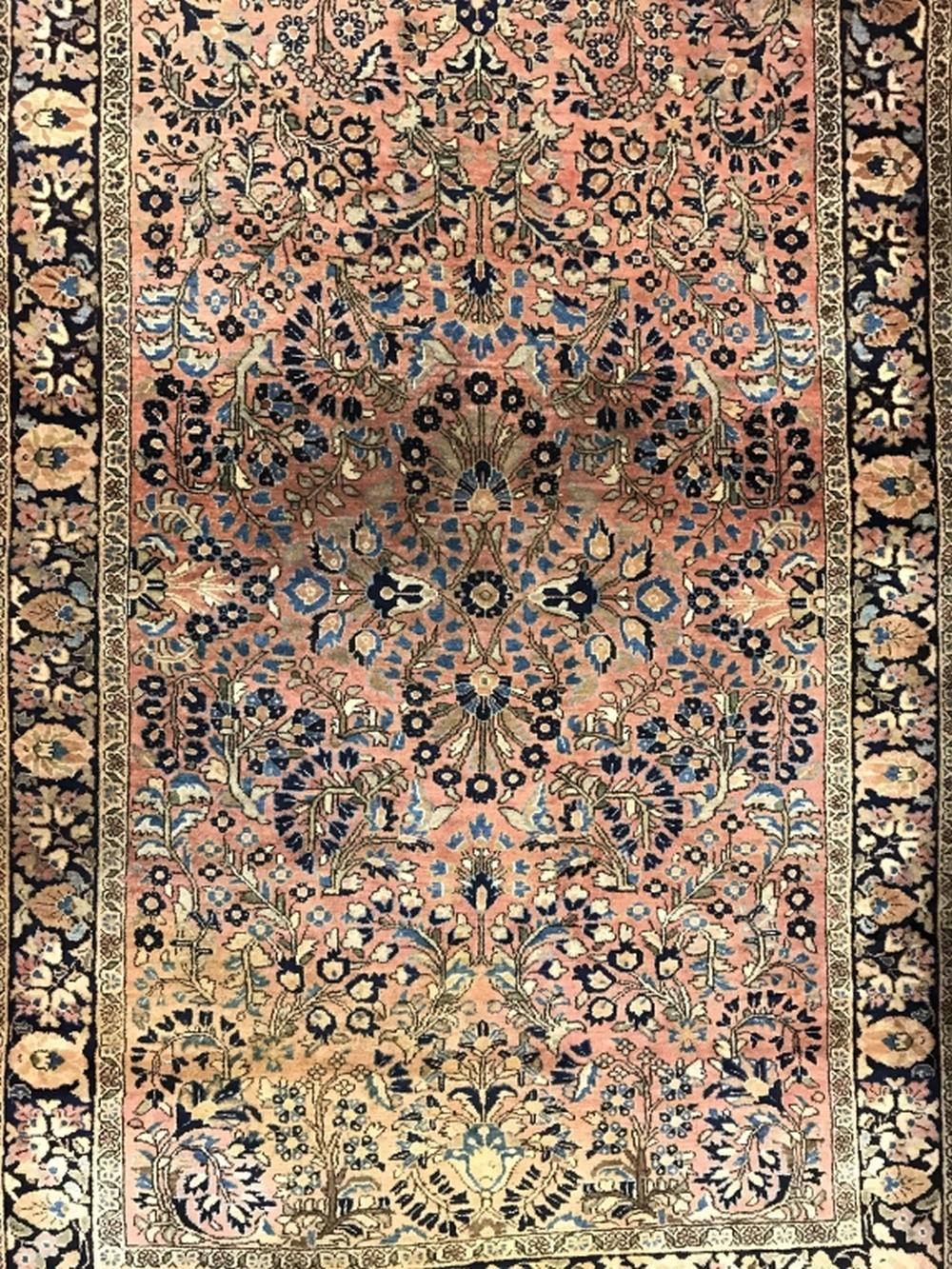 Vintage Handmade Wool SAROUK Rug