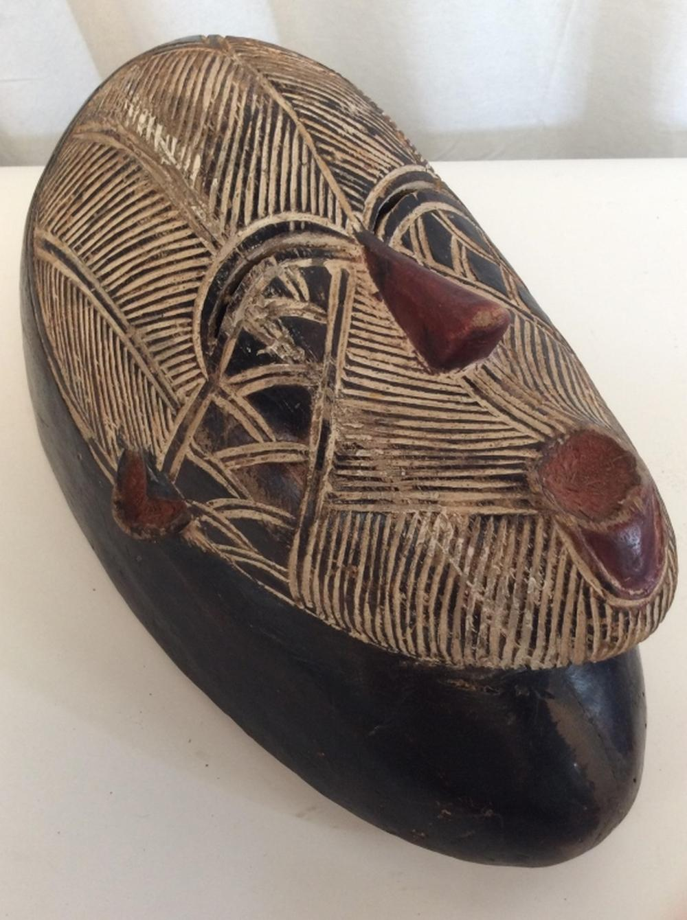African Art Songye Tribe Carved Mask