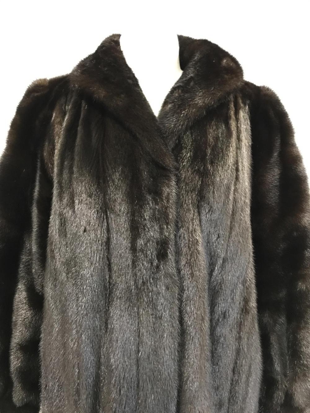 Full Length MINK COAT w Silk Paisley Lining