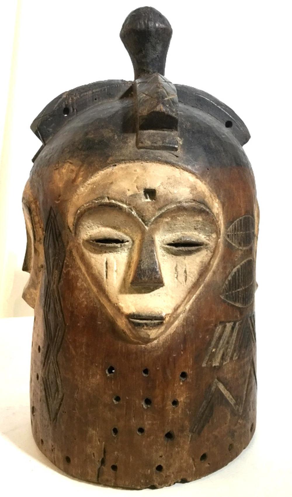 African Art Ngontang Helmet Mask, Gabon