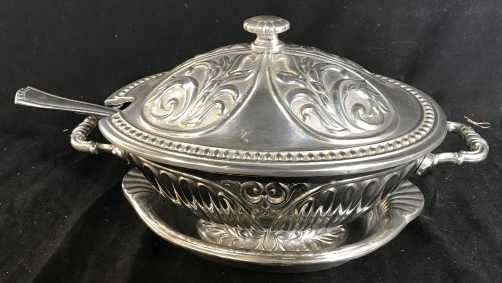 Lenox tureen with ladle and under plate