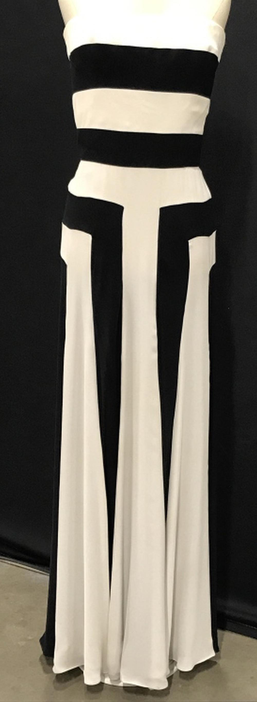 DONALD DEAL COUTURE Zebra Striped Silk Dress