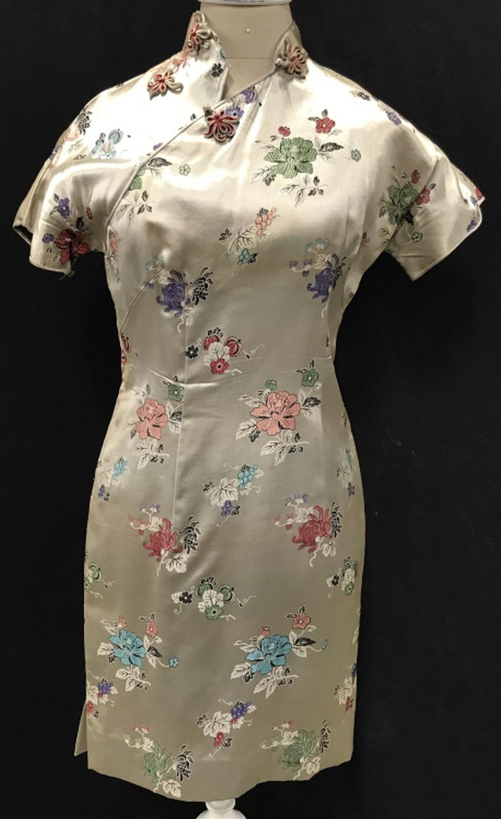 Custom Made Gold Chinese Dress 'Cheongsam'