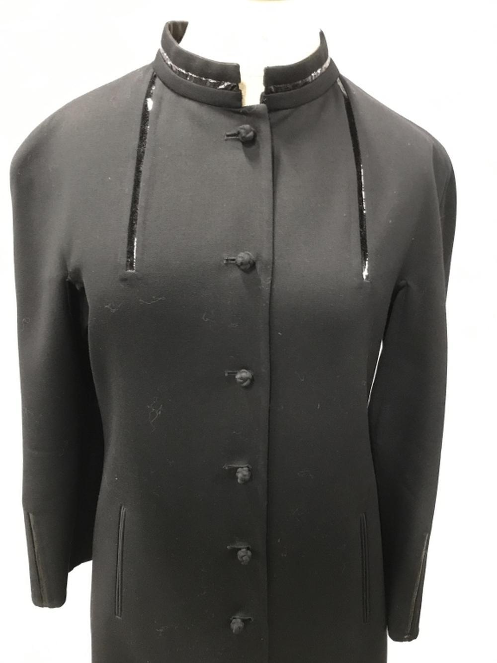 CHADÓ RALPH RUCCI Long Black Dress Coat