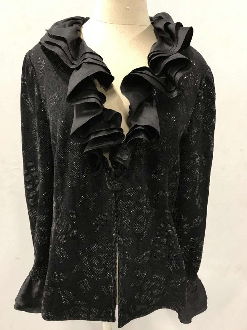 Showpiece Evening Sweater Jacket w Silk Taffeta