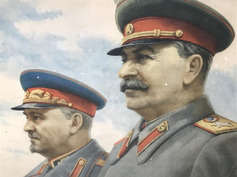 1949 Stalin Russian Soviet Propoganda Poster