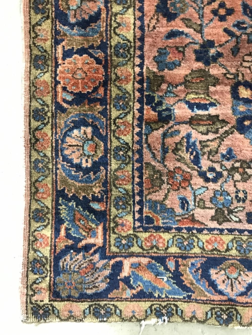 Vintage Handmade SAROUK Wool Rug