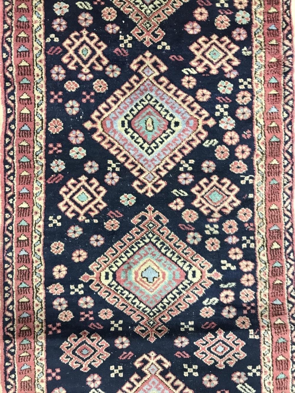 Handmade Multi Toned Wool Runner