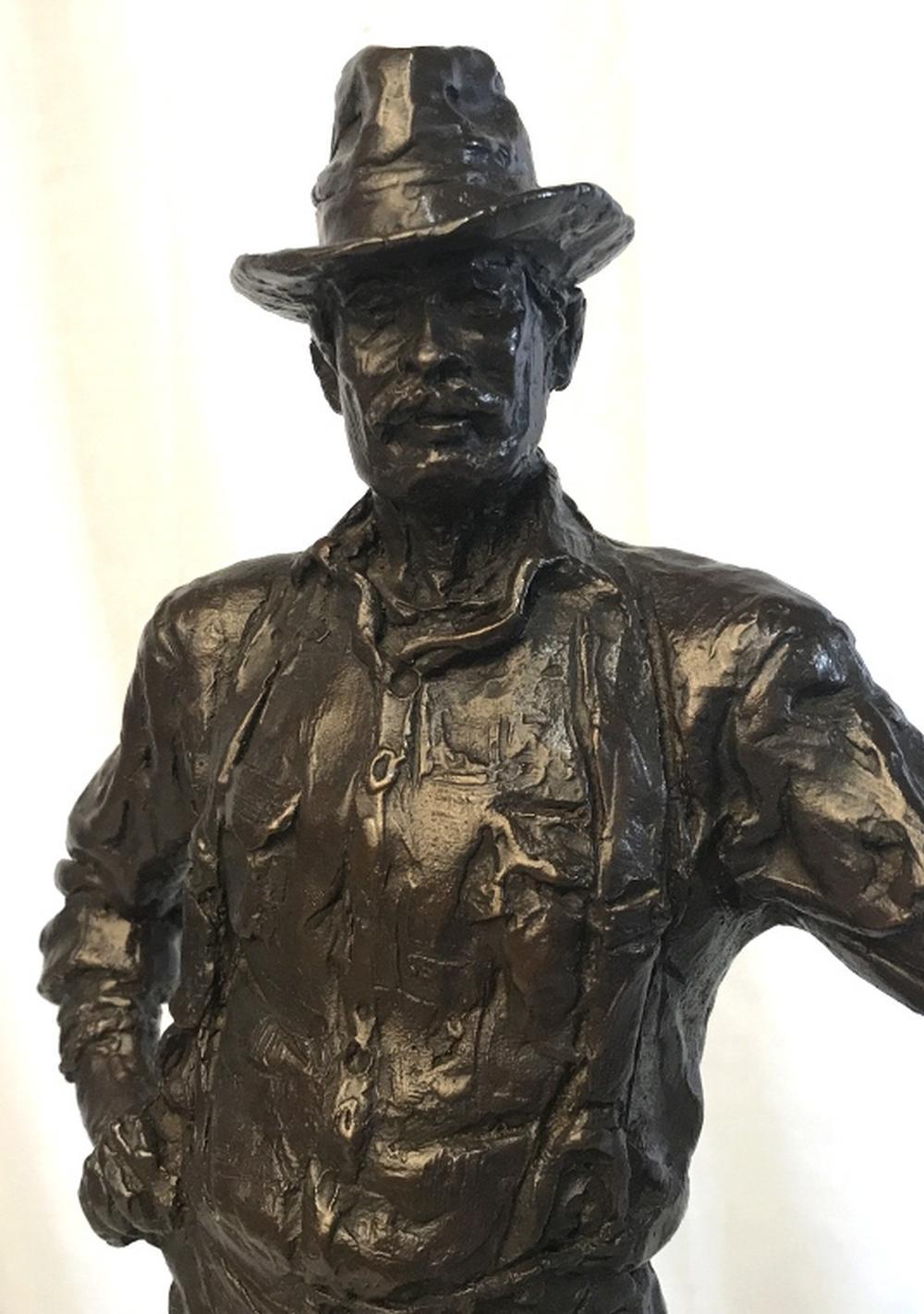 Signed Bronze Figural Sculpture, The Lumberjack