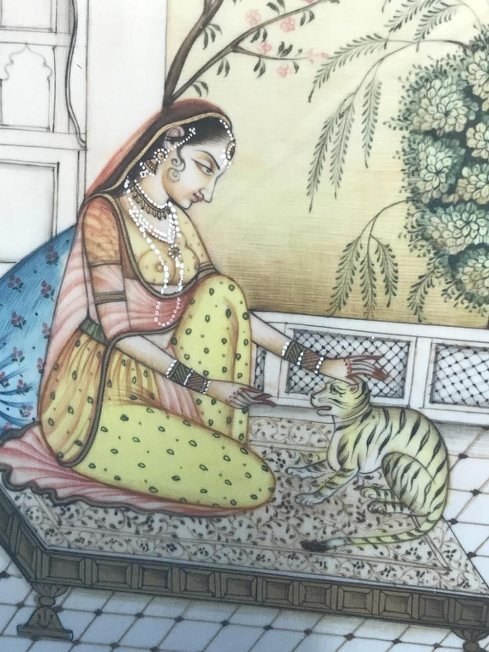 Framed Indian Miniature Painting