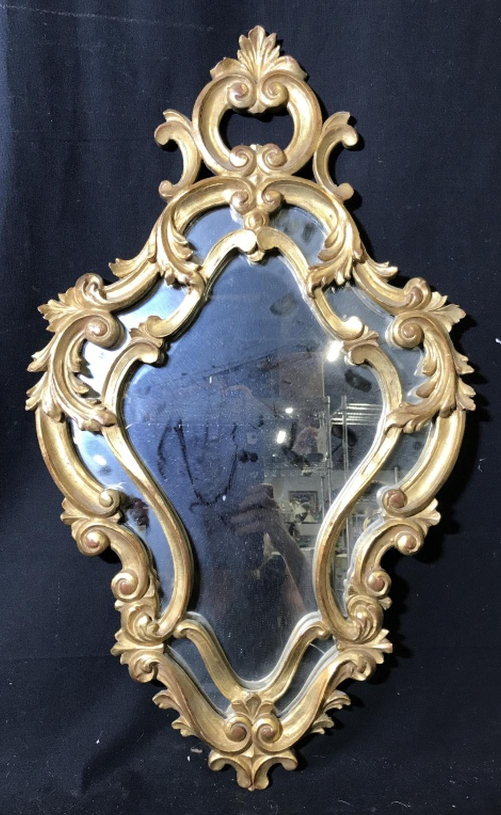 Carved Wood Gold Leafed Mirror