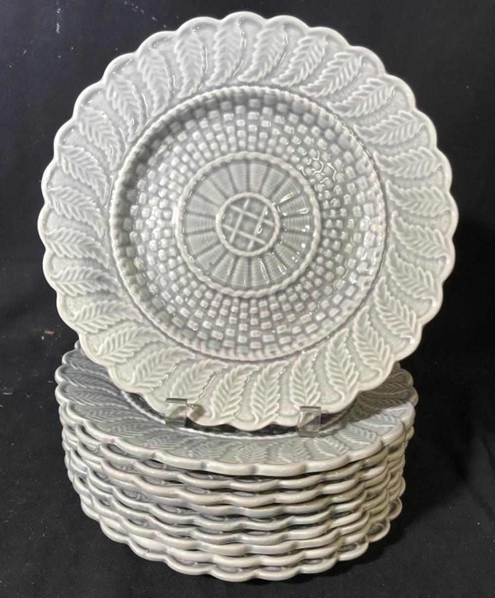 Set 10 Signed Gray Toned Plates