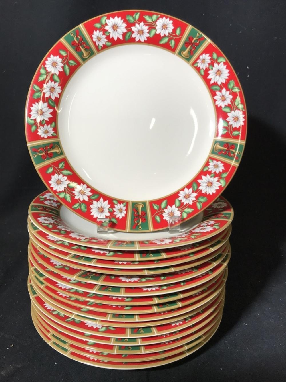 Large Christmas Porcelain Dinner Ware Set
