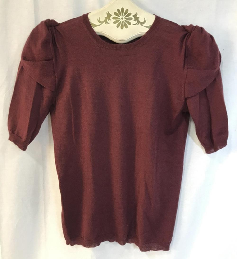 PRADA Luxury Designer Knit Short Sleeved Sweater
