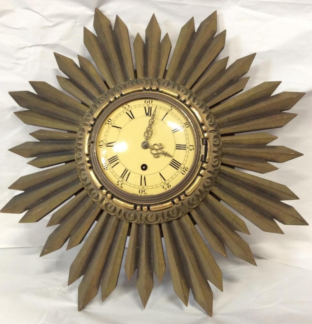 WESTERSTRAND Sunburst Wall Clock, Sweden