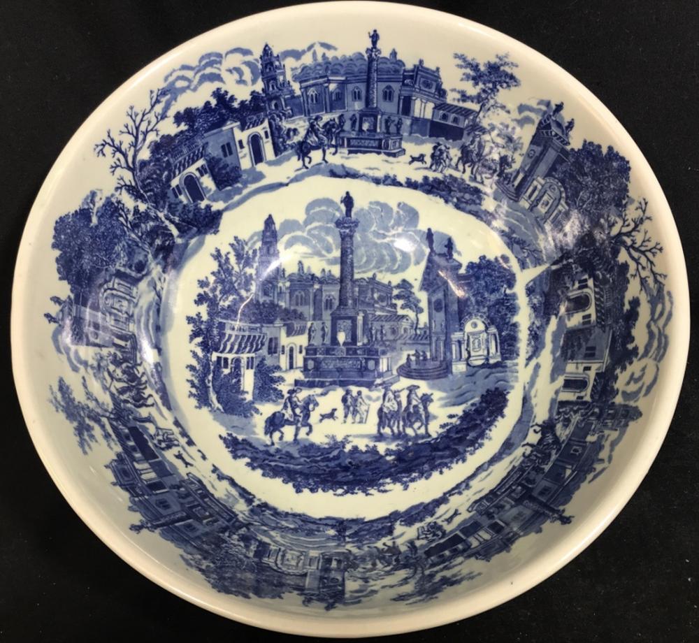 Grand Blue&White Chinoiserie Ironstone Bowl