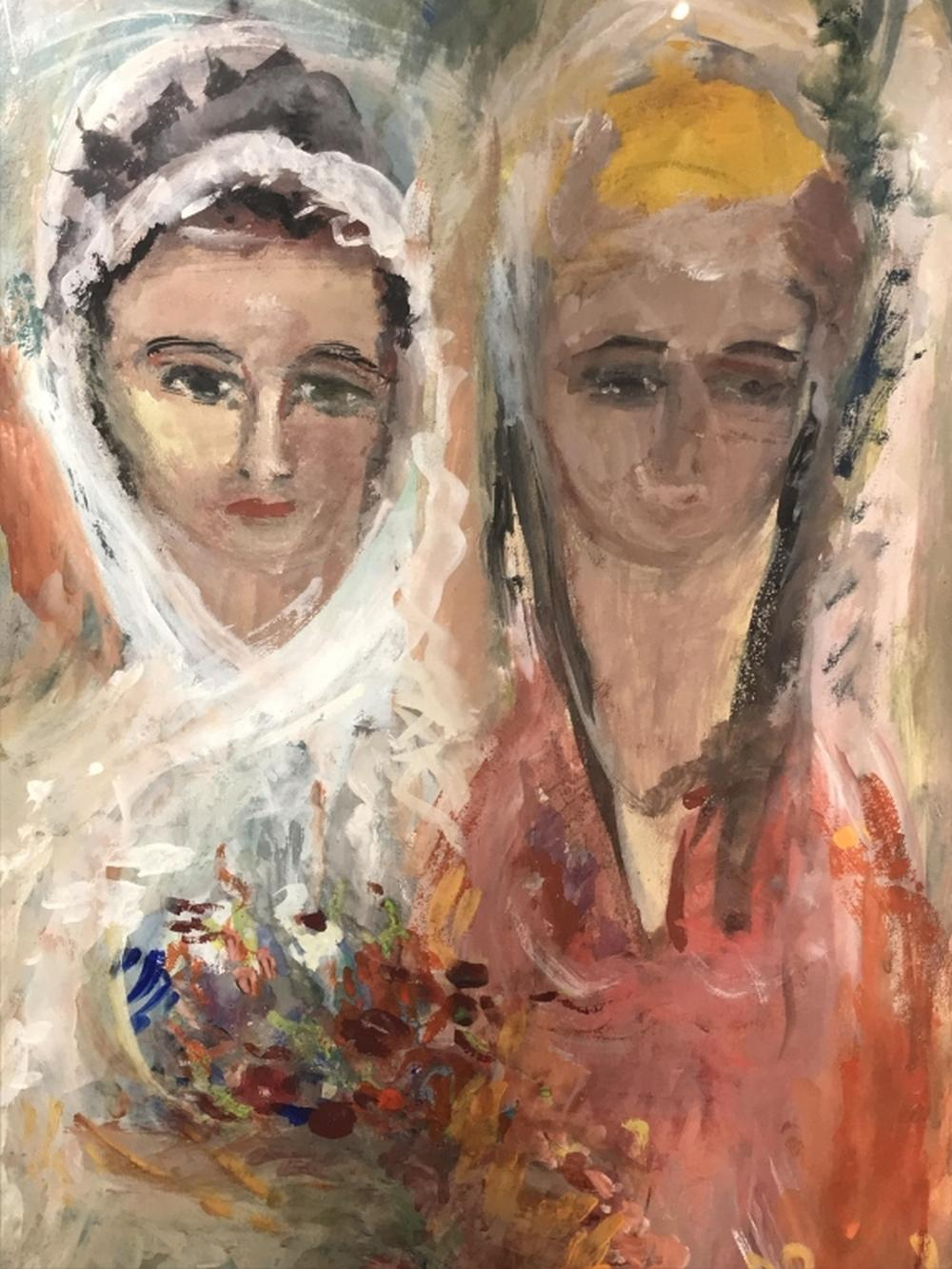 Signed Vava Khachadourian Watercolor Painting