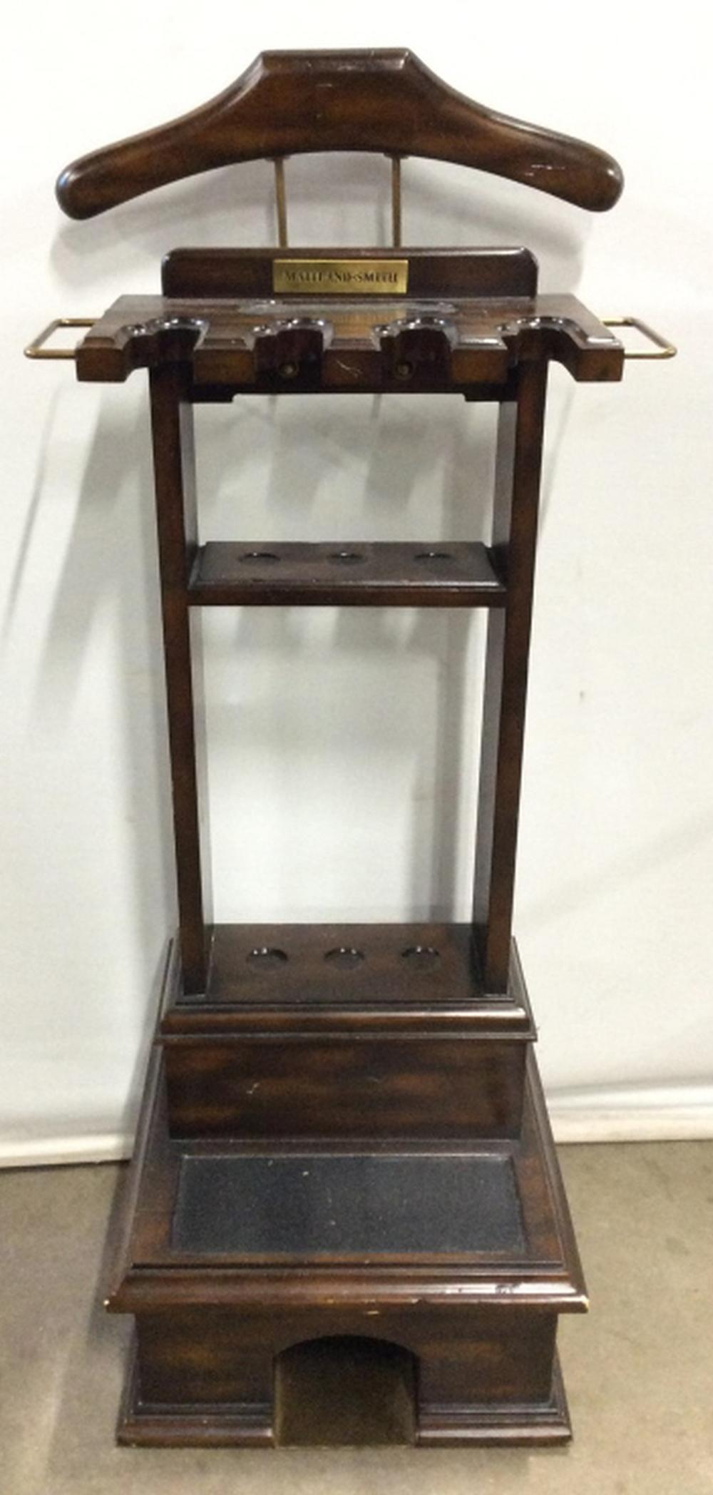 MAITLAND SMITH Carved Wooden Butler Stand