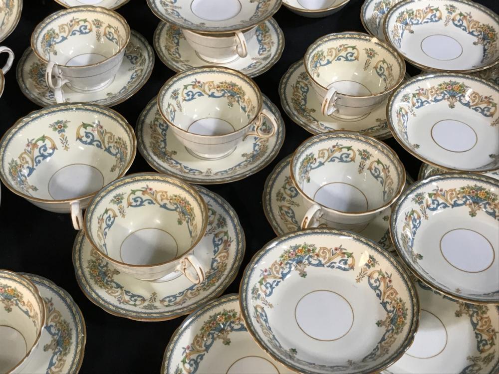 48pc Vintage AYNSLEY China Tea Set, Soup & Fruit