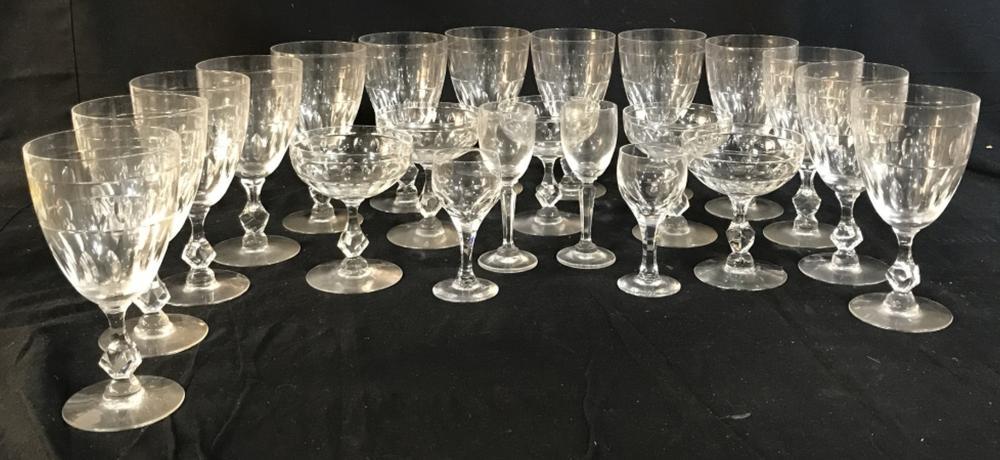 Set 22 Vintage Crystal Glassware