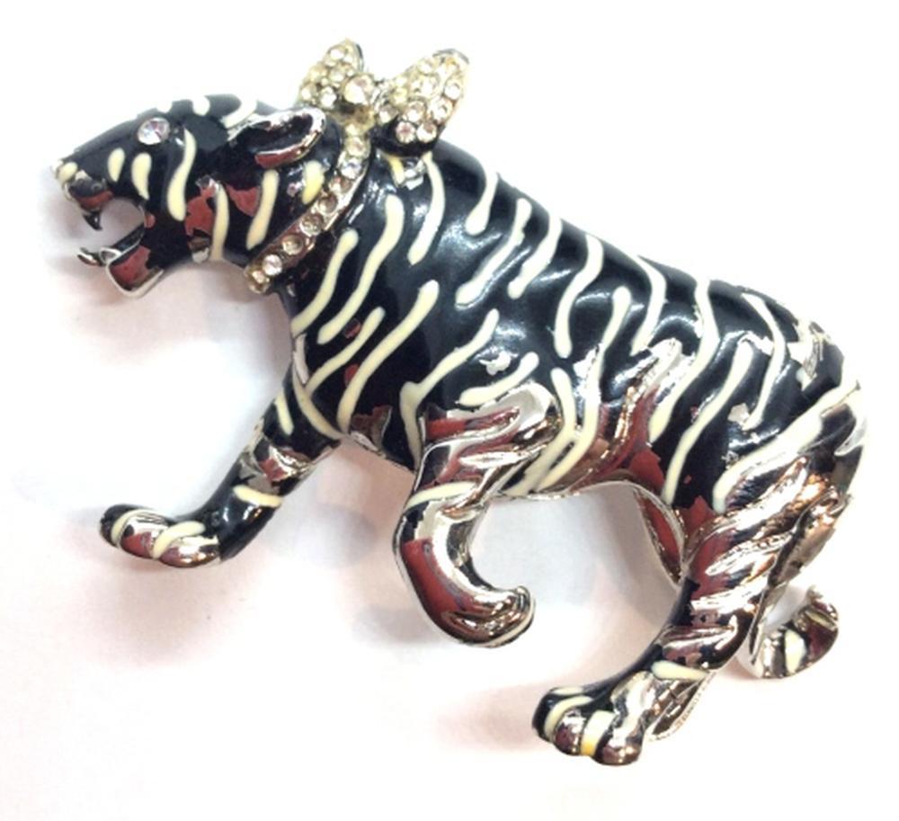 Kenneth Lane Tiger Brooch Pin