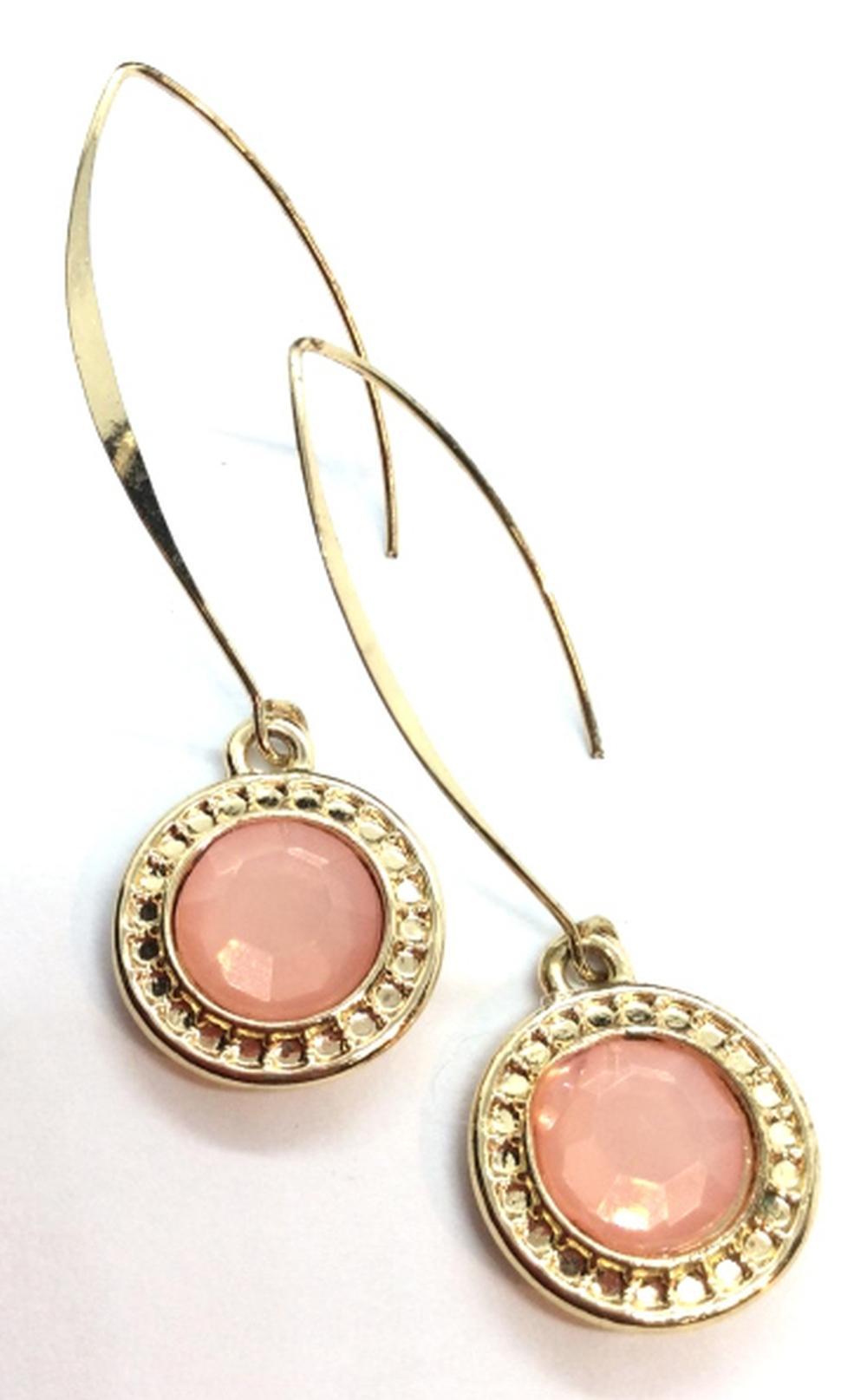 Pink Toned Rhinestone Earrings
