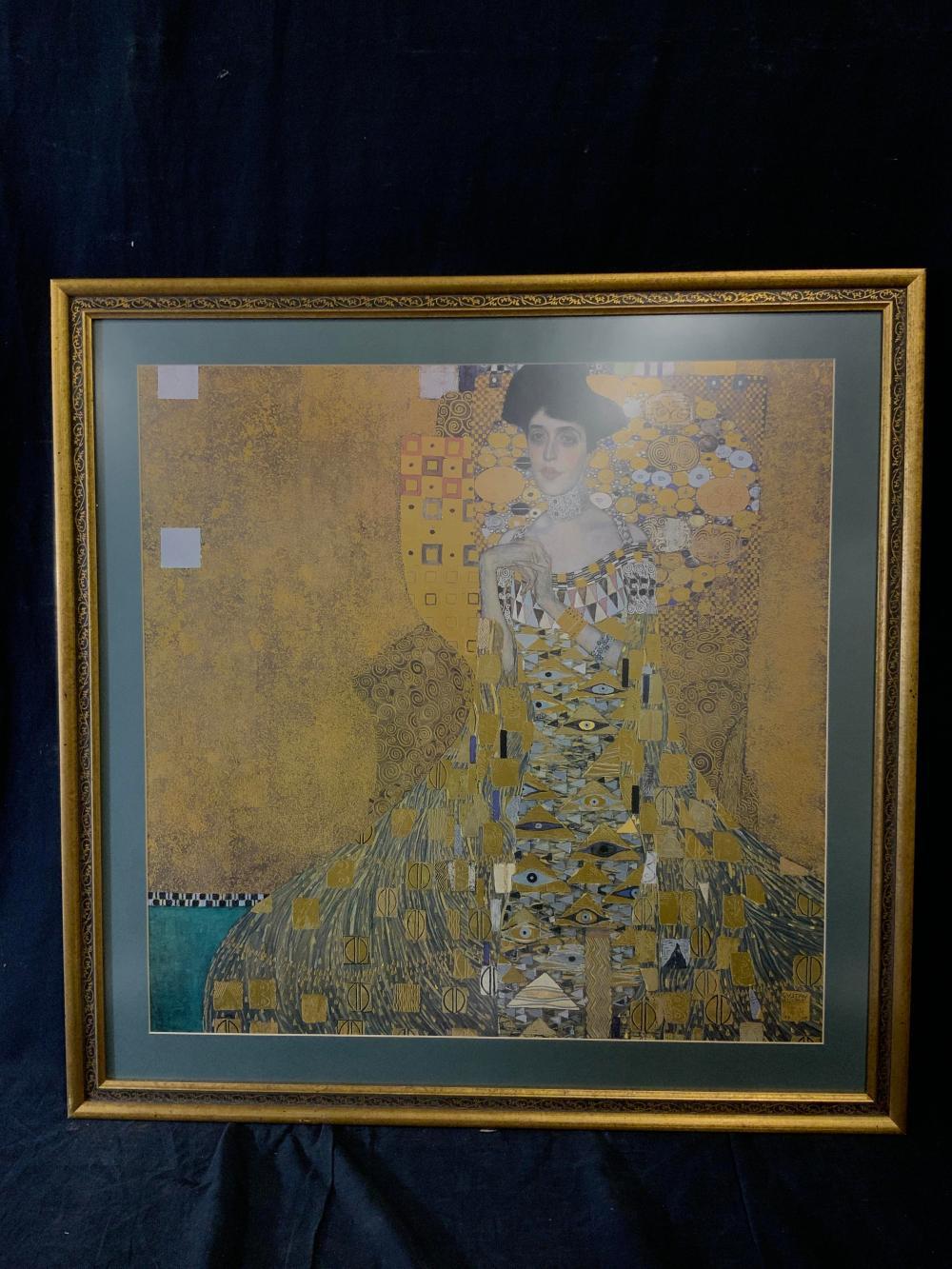 Gustav Klimt Signed Zlatá Adele Offset Lithograph