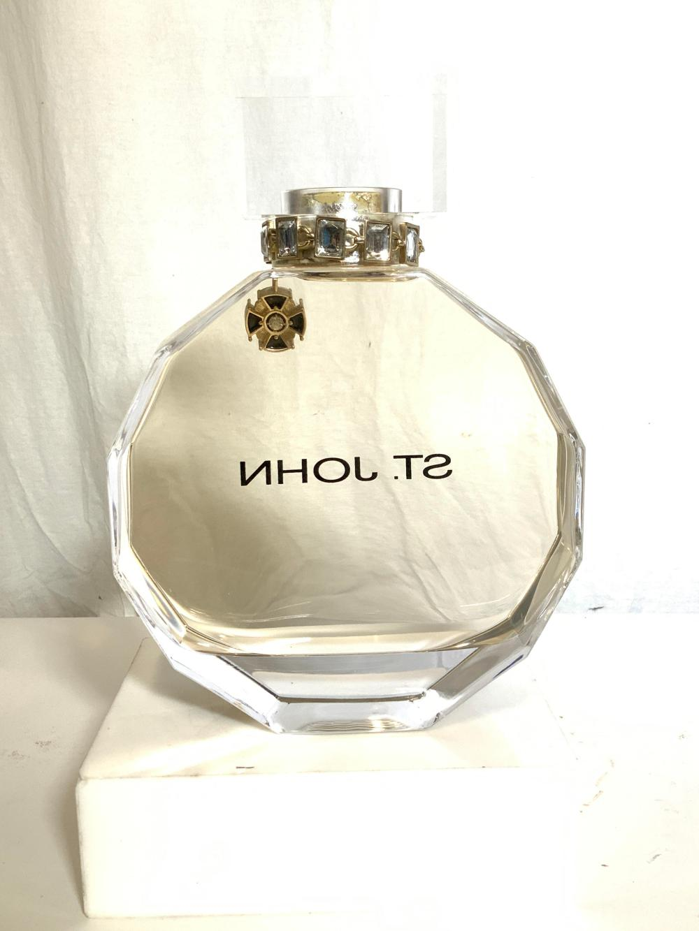 St. John Store Display Perfume Bottle w Ornaments