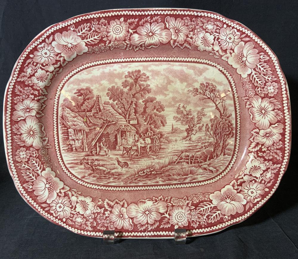 Vintage W.R. MIDWINTER LTD Glazed Ceramic Tray