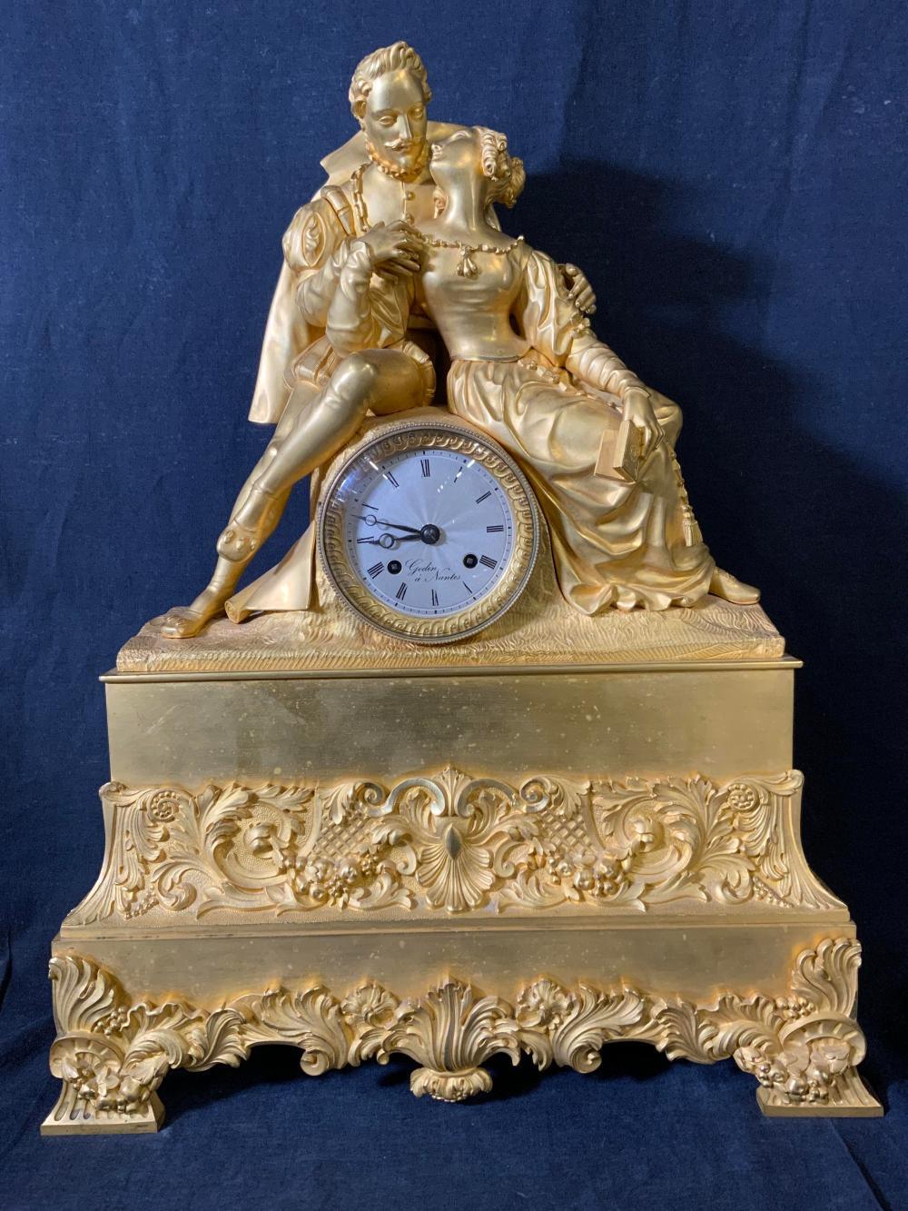 Antique NAPOLEAN III Ormolu Mantle Clock w Cert