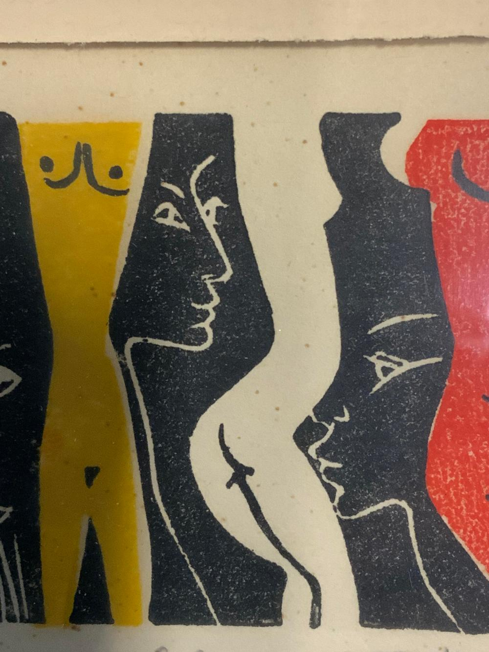 Signed Female Nude Limited Edition Woodblock Print