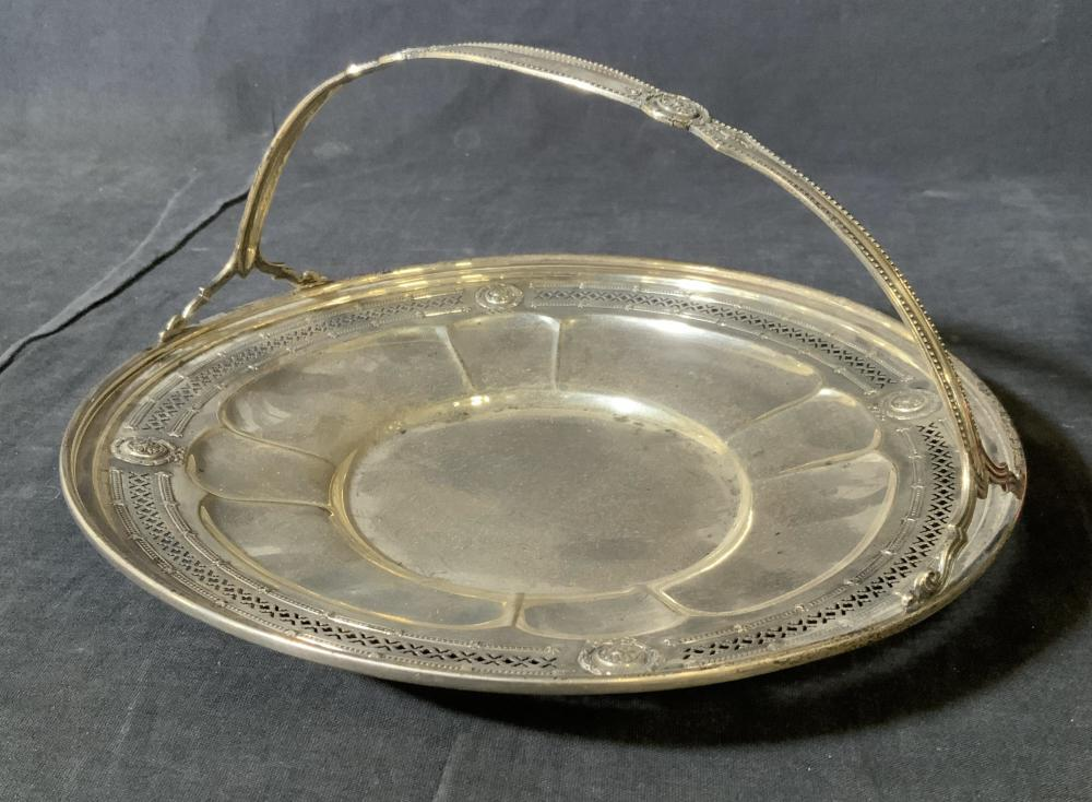 Antique Sterling Silver Plate w Handle
