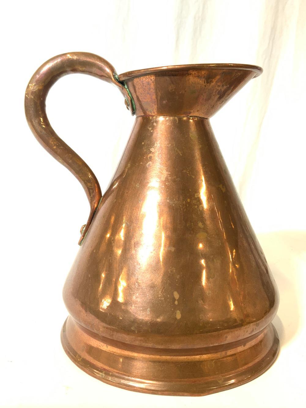 Antique Copper Pitcher Ewer Vessel