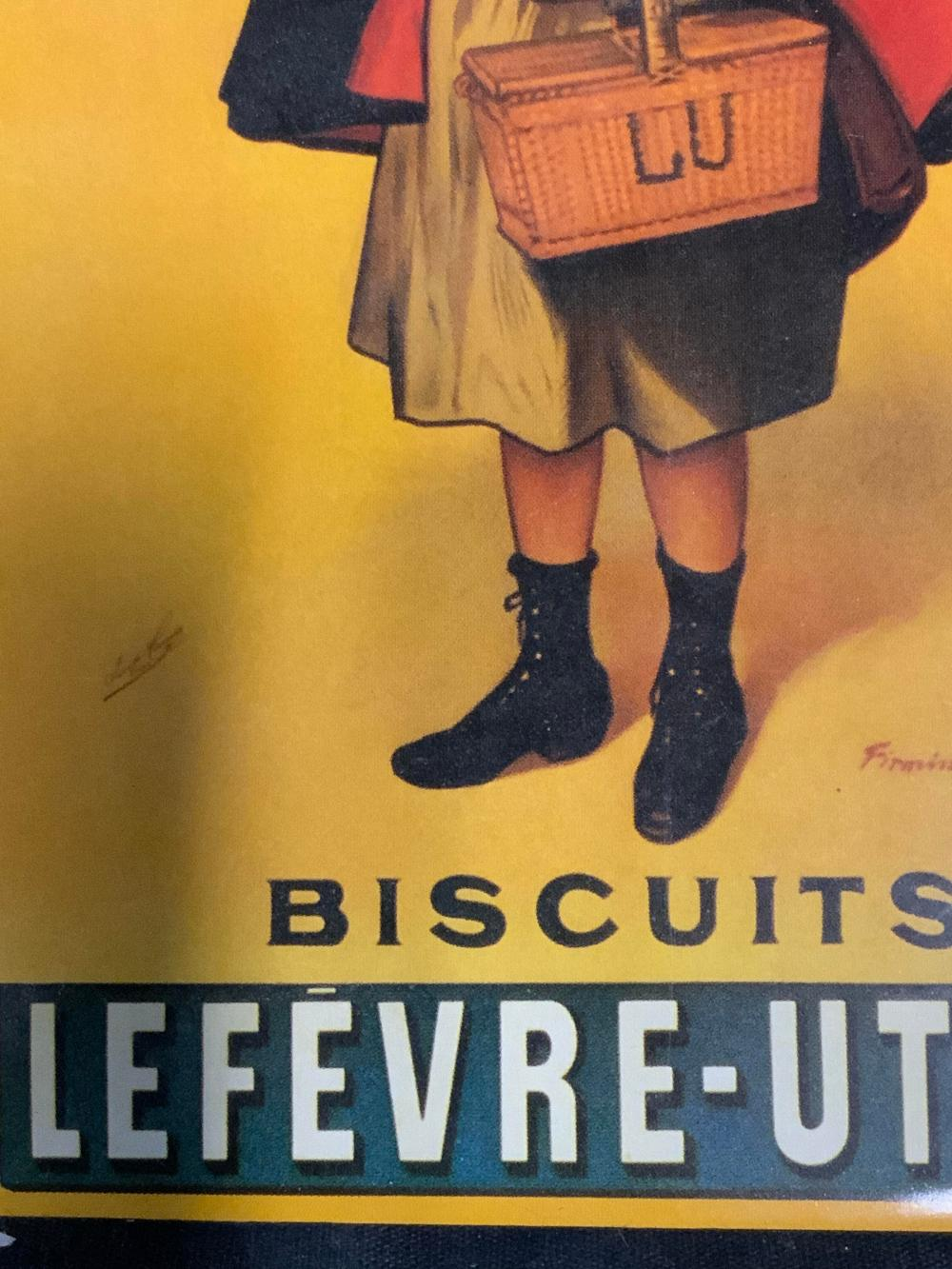 FIRMIN BOUISSET Vintage Lu Lu Biscuits Artwork