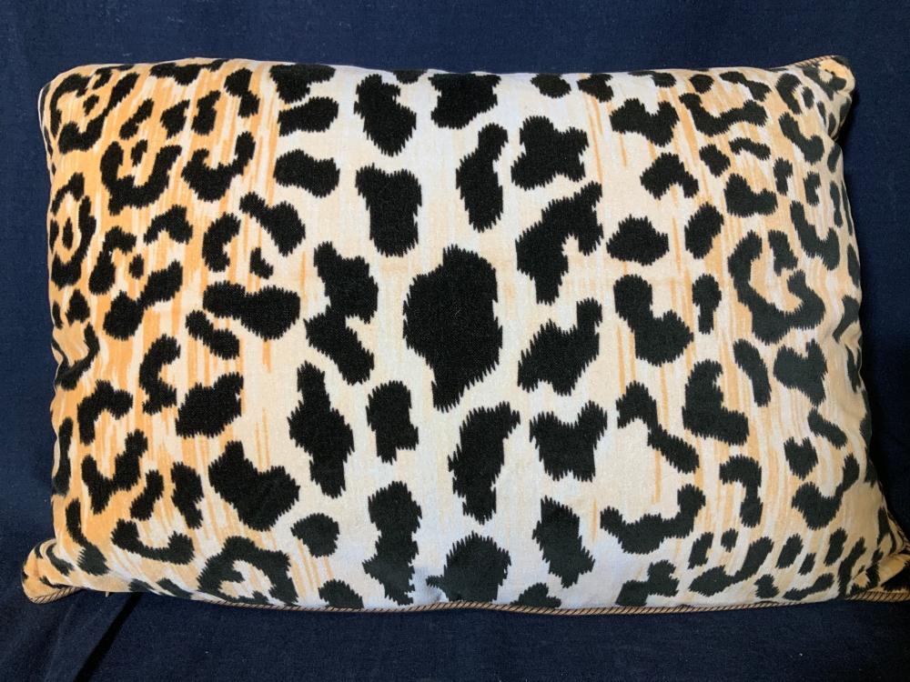 Cheetah Print ClarenceHouse/D&D Feather Pillow