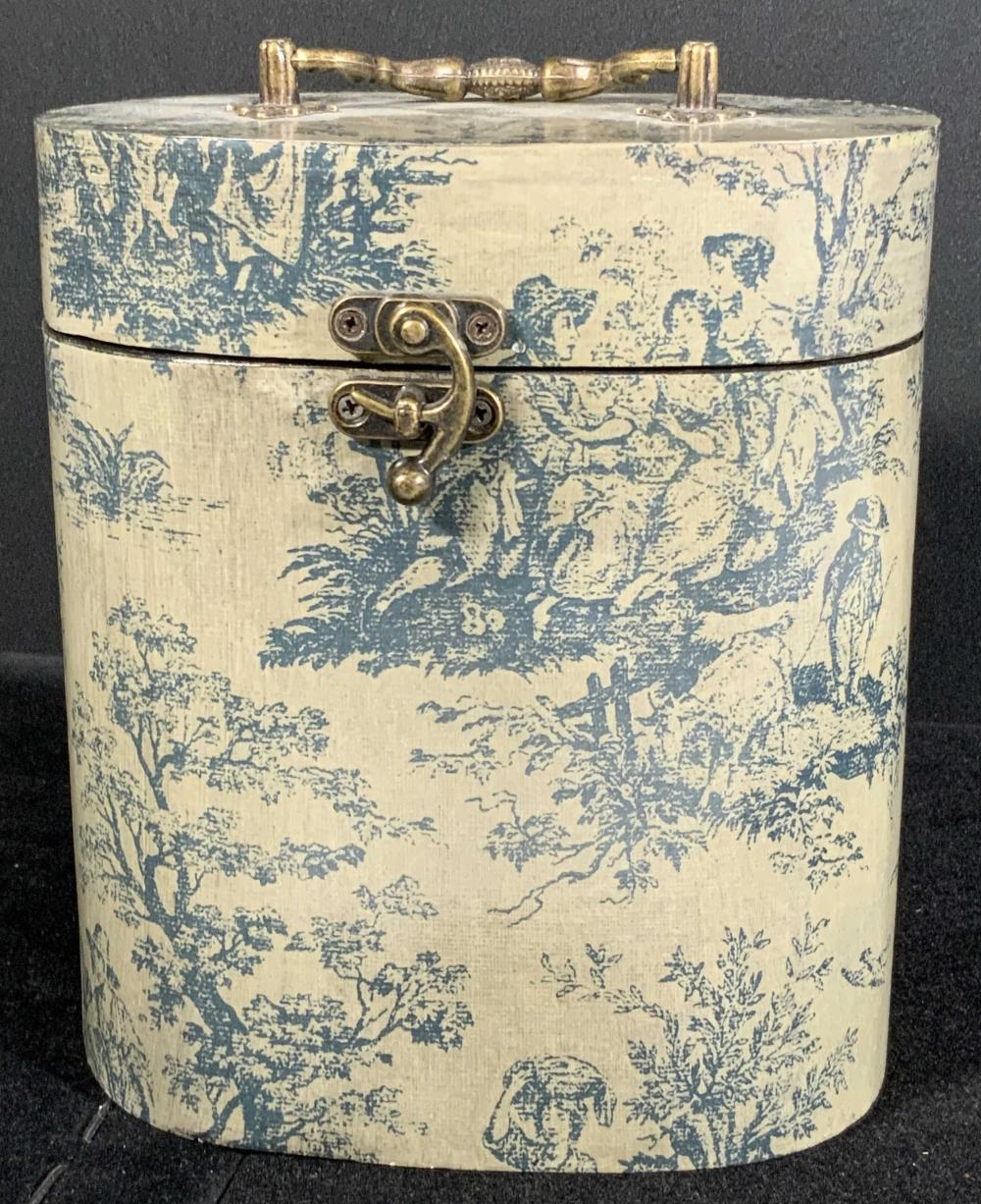 Vintage Nature Motif Wooden Keepsake Box