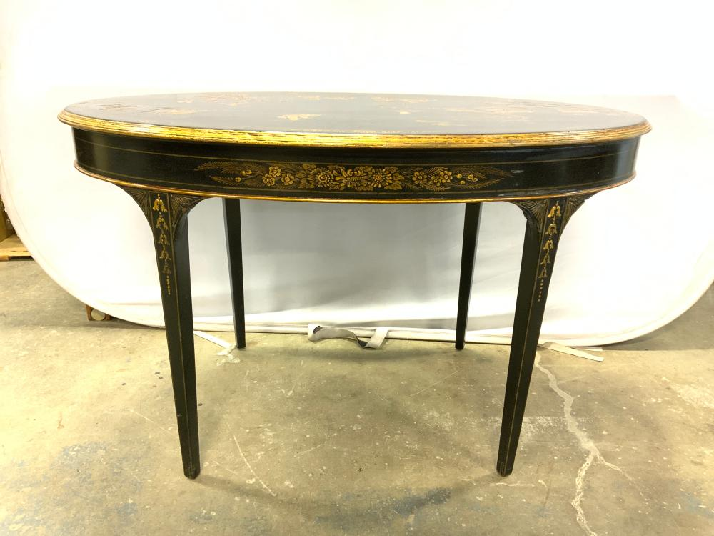 Vintage Hand Painted Chinoiserie Desk