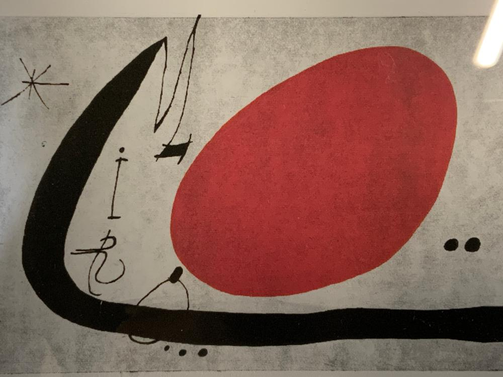 ATTR JOAN MIRO Signed Abstract Lithograph