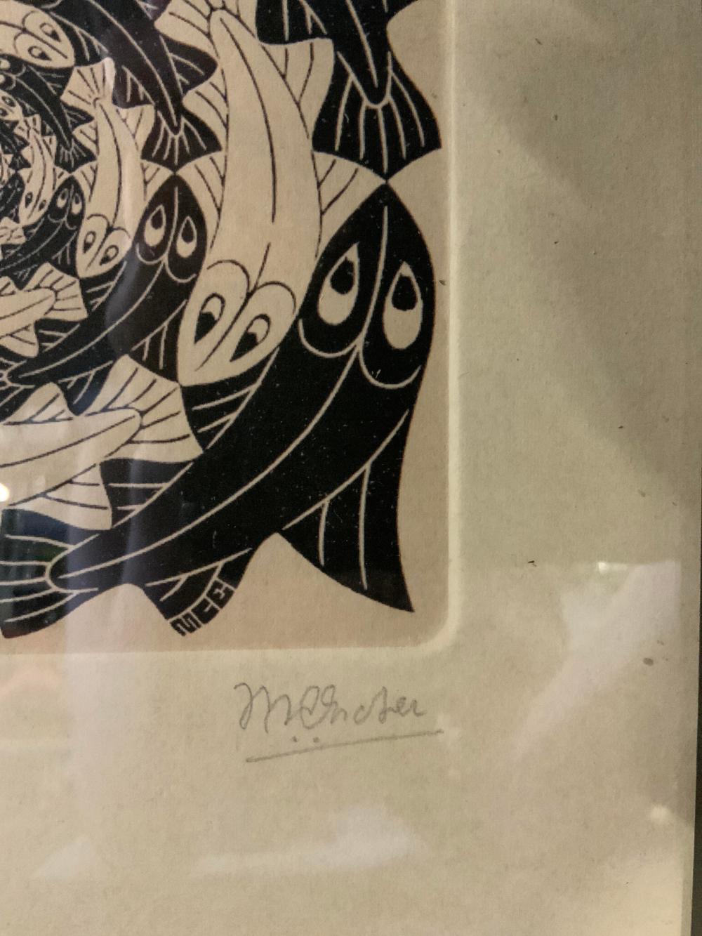 ATTR MAURTIS CORNELIS ESCHER Signed Lithograph