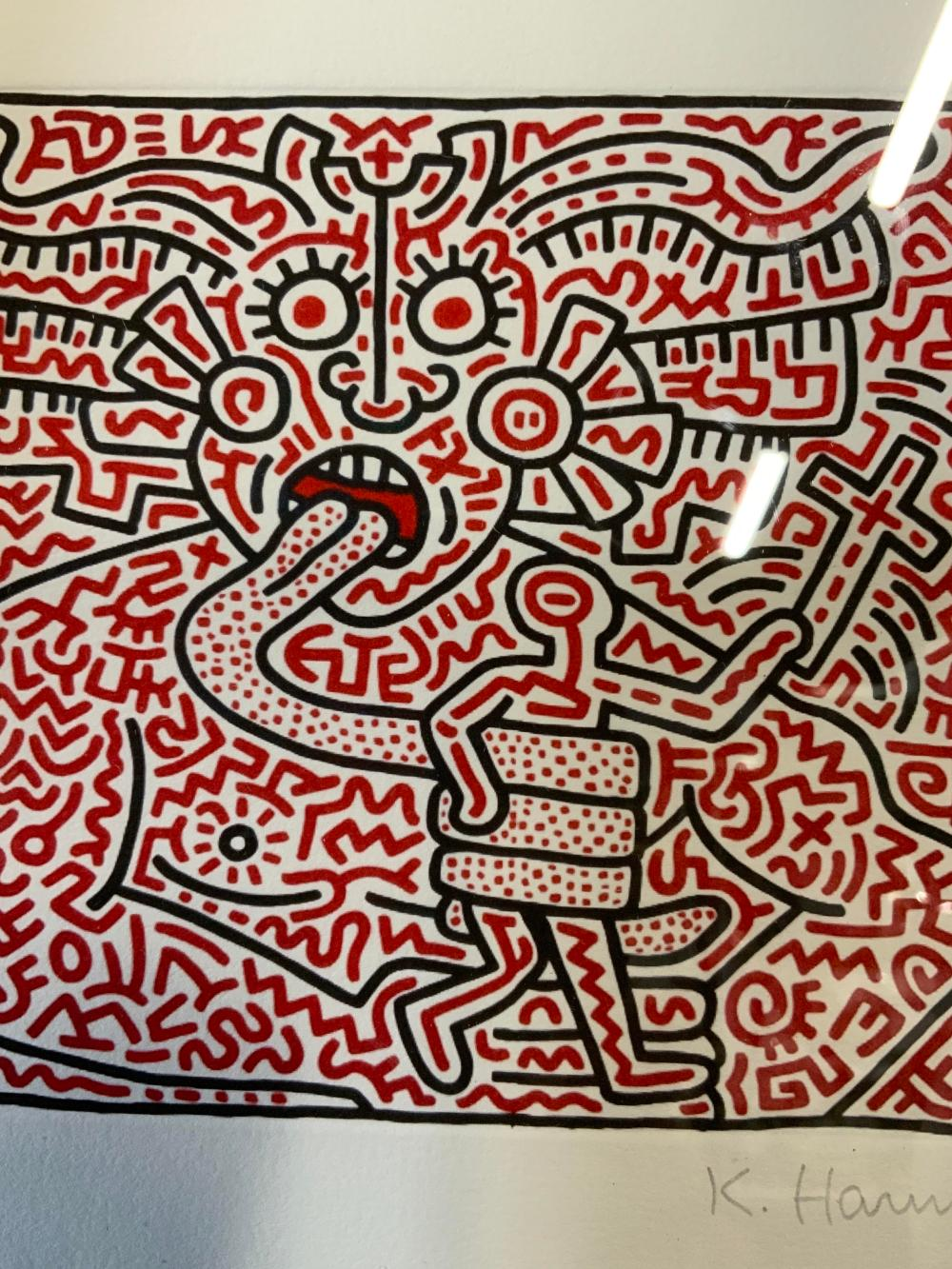 ATTR KEITH HARING Signed Lithograph