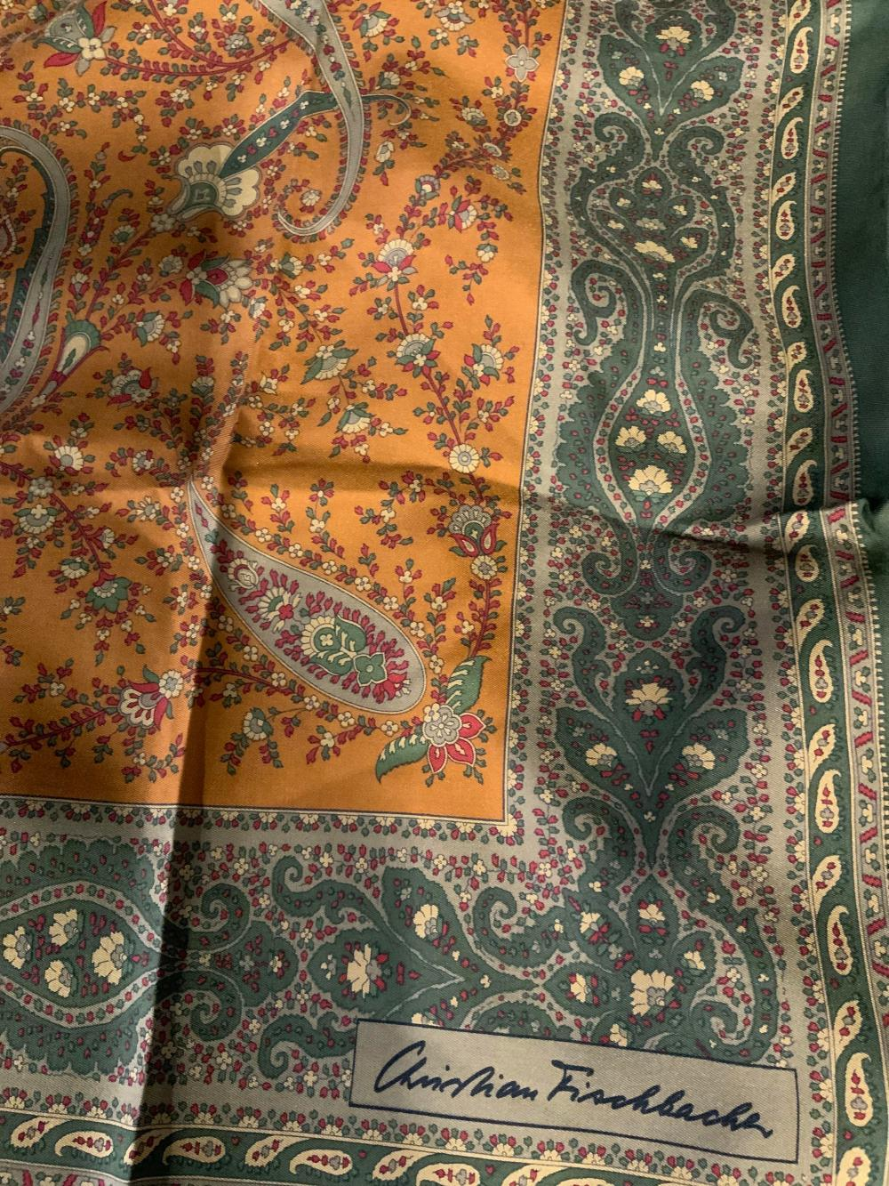 Vintage CHRISTIAN FISCHBACHER Silk Scarf