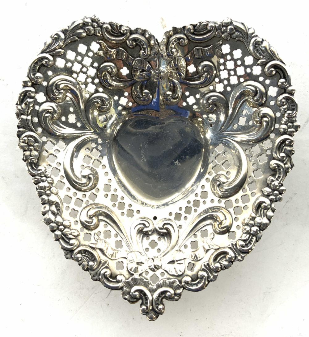 Pr GORHAM Sterling Silver Hart Shape Candy Dishes