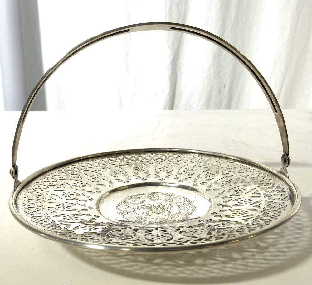 STERLING Silver Pierced Dish With Handle