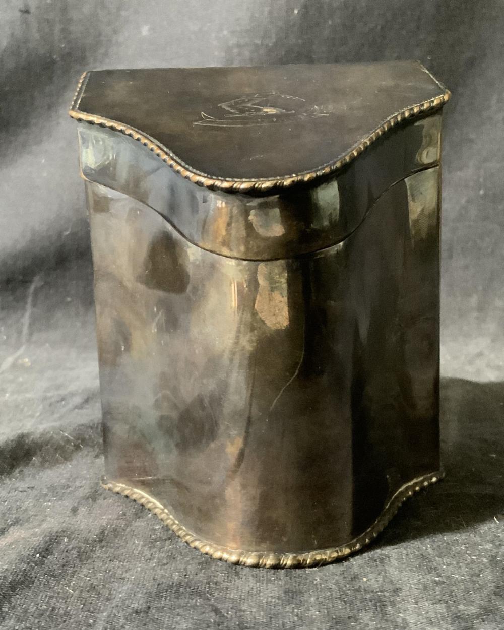 Silver Plated Irregularly Shaped Box