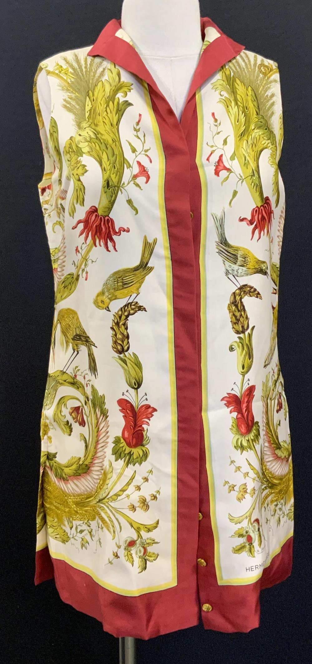 HERMÈS PARIS BOUTIQUE SPORT Silk Patterned Vest