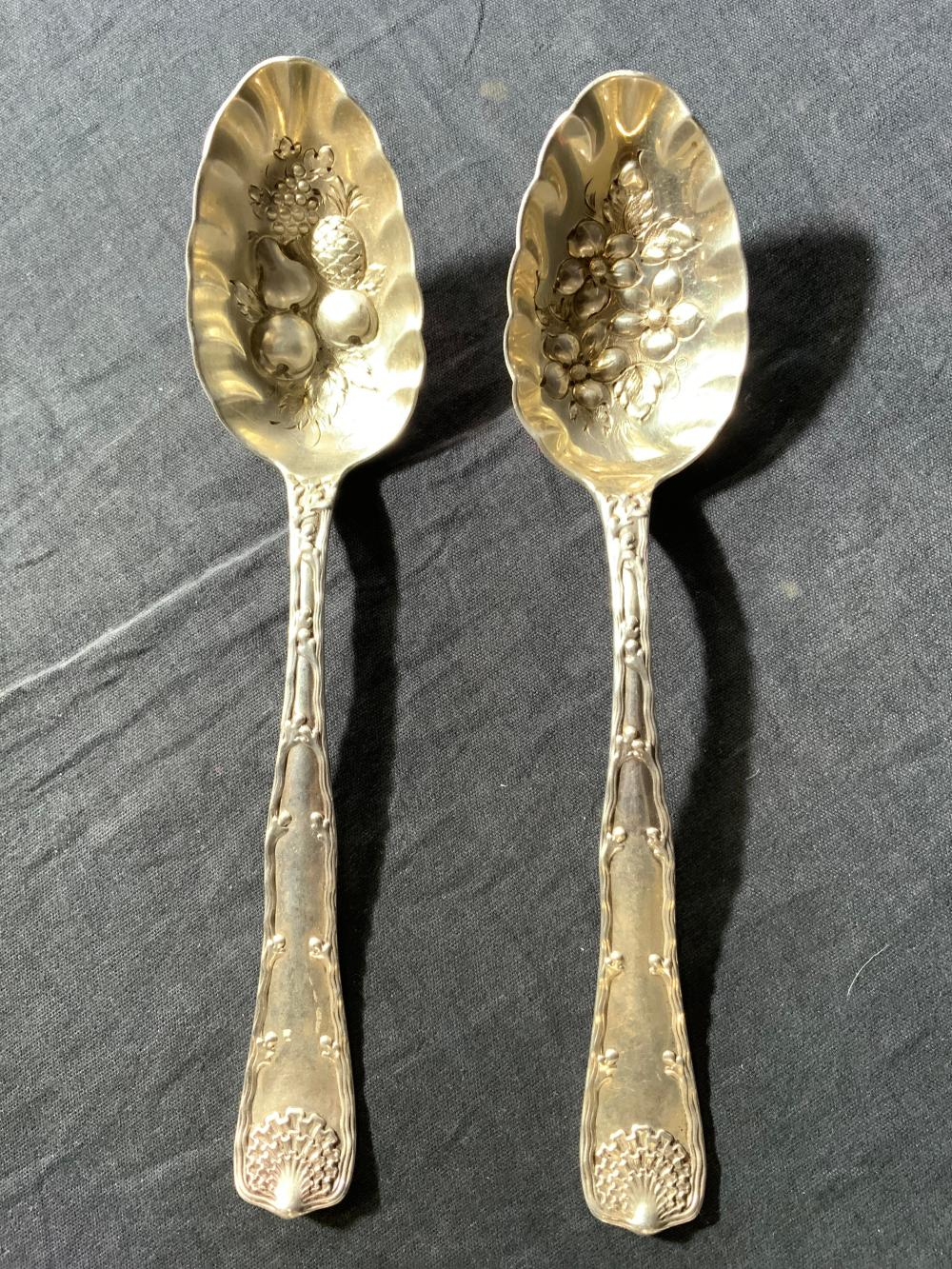 Lot 2 TIFFANY & CO Sterling Silver Spoons